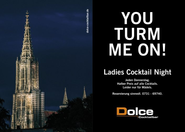 Dolce Cocktailbar Ulm Werbung November 2016